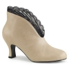 JENNA - 105 Cream Faux Leather with Lace